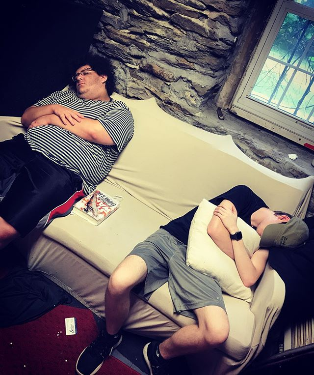 It's not even tech week yet, but The Rabbi and The Constable already needed a nap! #WearyWednesday