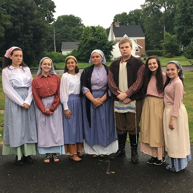 The rain really went well with the solemn theme, even if not everybody got the no smiling memo #inthespotlight #theatre #fiddlerontheroof #connecticut #musical