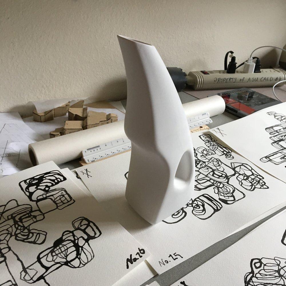 Final water vessel model, ceramic