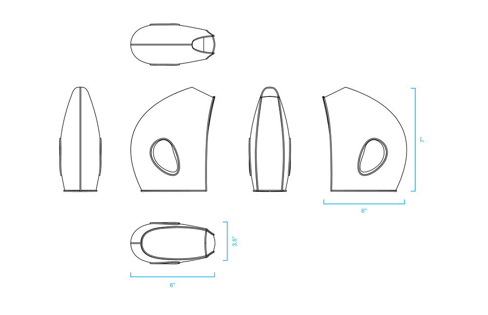 Technical specs for leather wine vessel