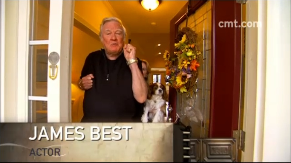 "Actor/Author  James Best   (""Duke of Hazzard"")  appearance on  ""CMT Cribs""  on  CMT."