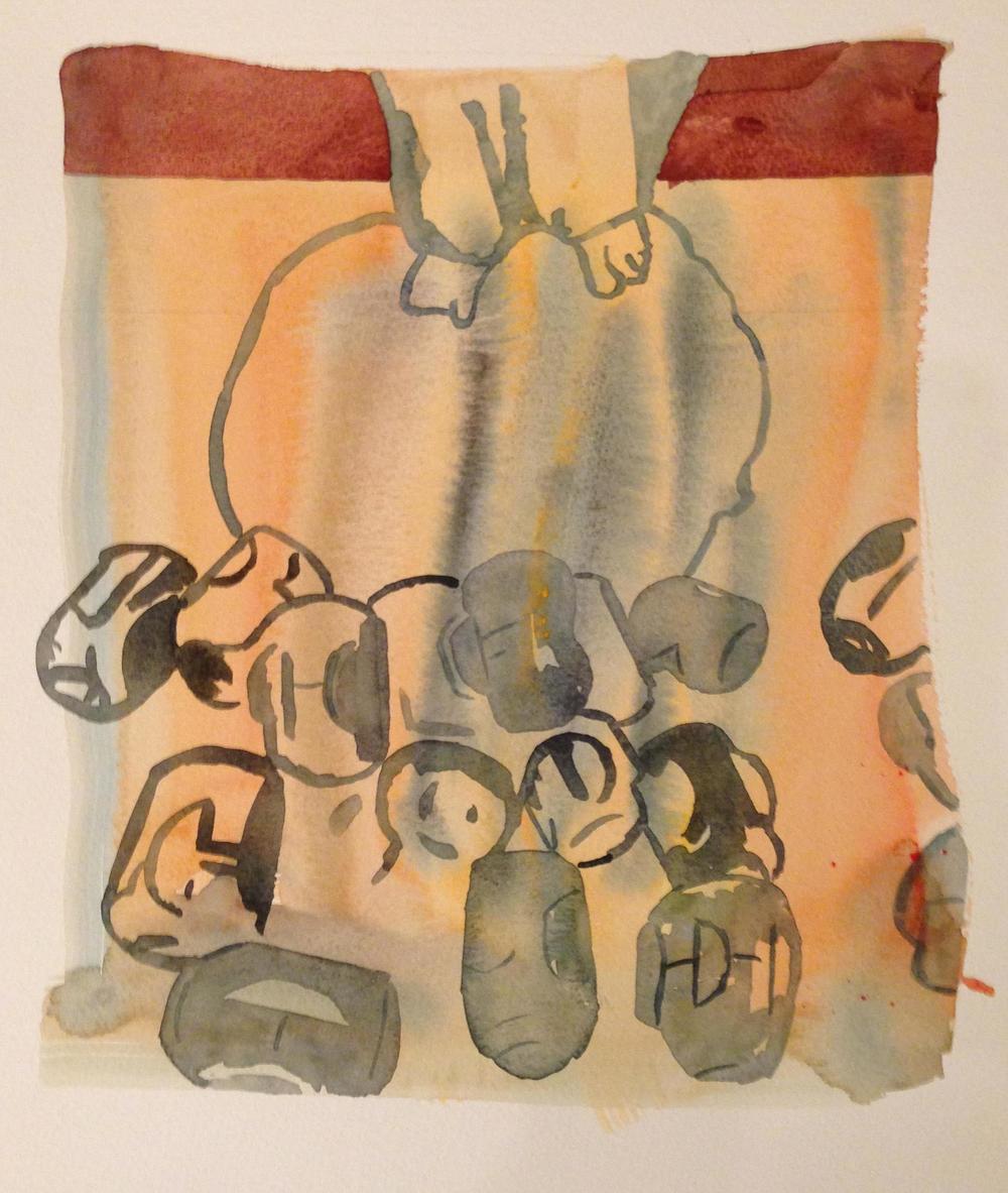 CLUSTER, 28 x 38cm, 2015