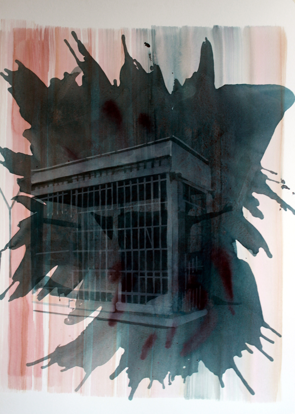 GUANTANAMO BAY, Acrylic on paper, 57 x 78cm, 2012