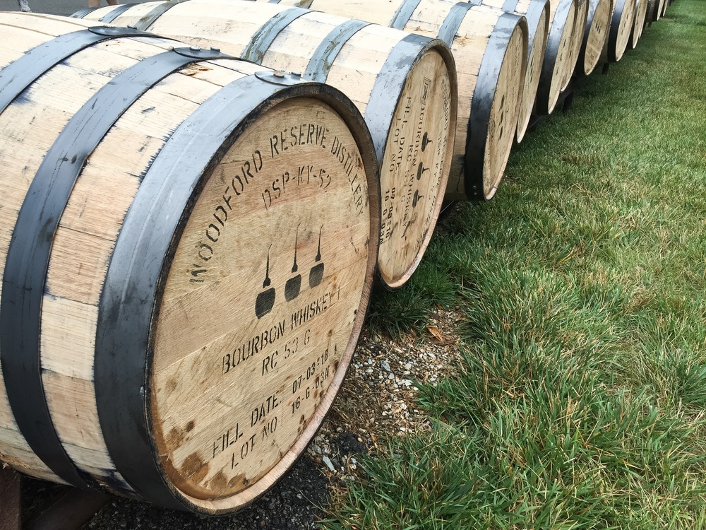 Woodford Reserve still uses barrel runs (look like train tracks) to roll barrels between warehouses and the bottling centers all over the distillery grounds