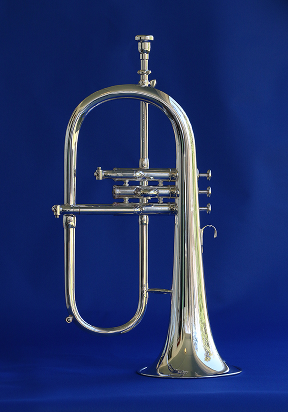 Callet Jazz Flugelhorn Gen 2 - Utilizing a radically new slide routing, the Callet Jazz Flugelhorn ended the long existing intonation problems inherent in flugelhorns. The new routing, a .460 bore, and the custom 6
