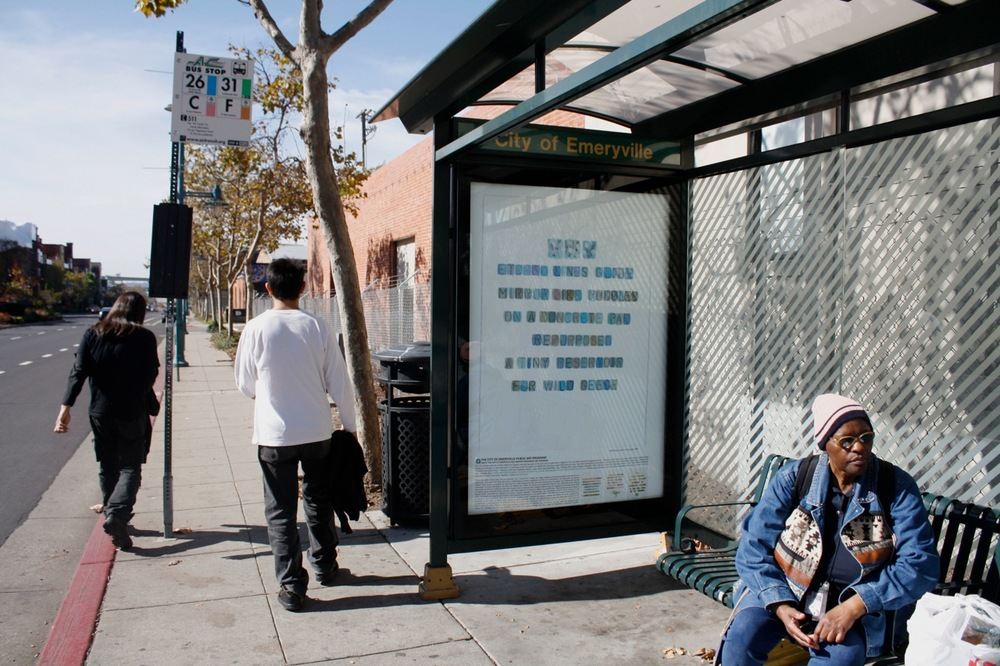 Emeryville Bus Shelter Project: Flora and Fauan