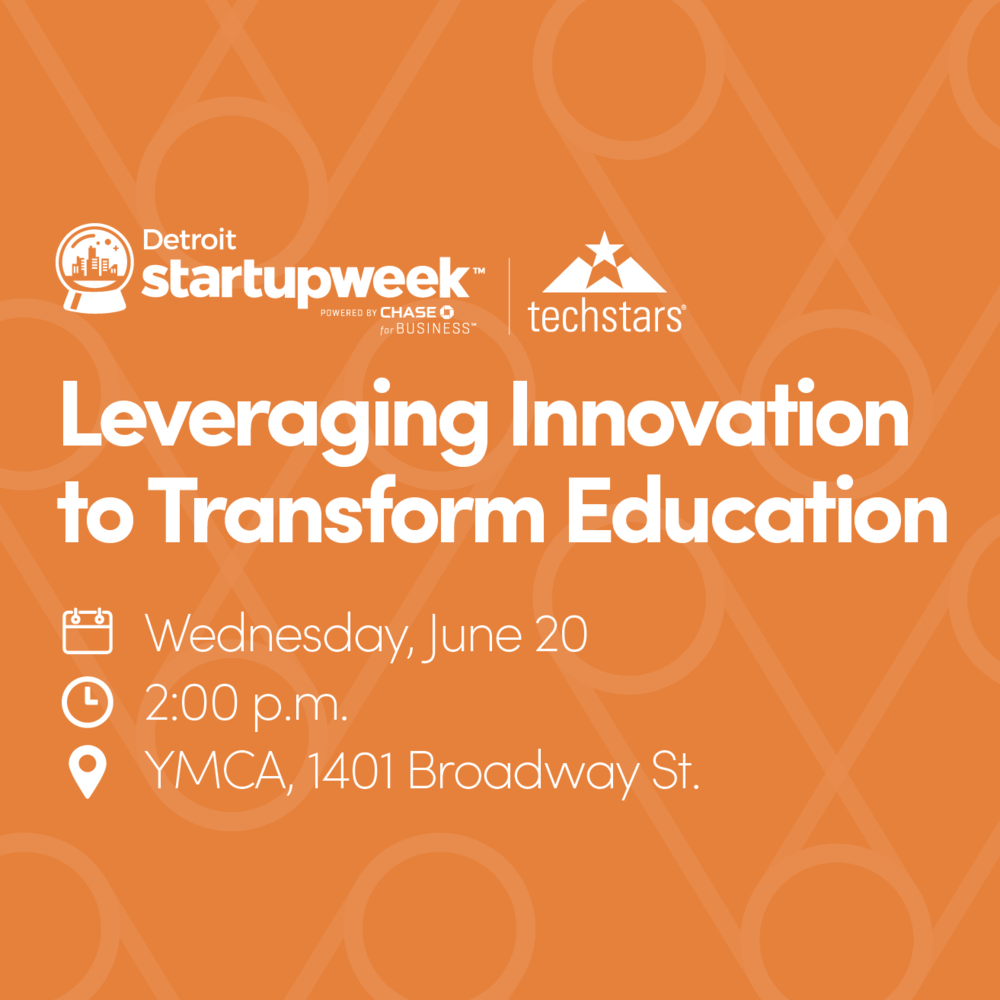 Be sure to join us during our session at  #Techstars  @detroitstartupweek  as we explore how to leverage innovation to transform  #education in Detroit! Together, we'll discuss how we can make Detroit a beacon of educational excellence through the power of entrepreneurial thinking.