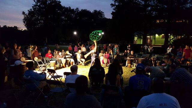 Raleigh Drum Circle Birthday Bash.  Photo by Heather Hartzog