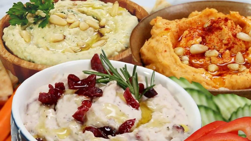 Hummus three ways  by Tasty