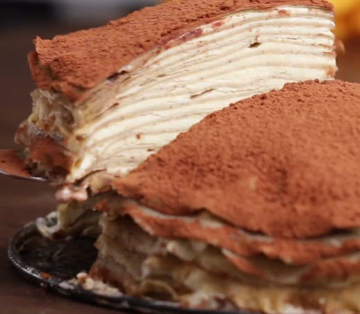 Mille-crêpe goût tiramisu  (  YES PLEASE)