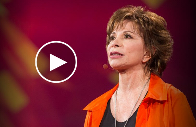 Let Isabel Allende teach you about passion in life, even at age 71 you can still hold that dear!