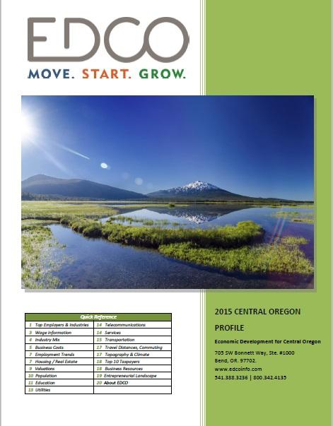 Get the Central Oregon Economic Profile