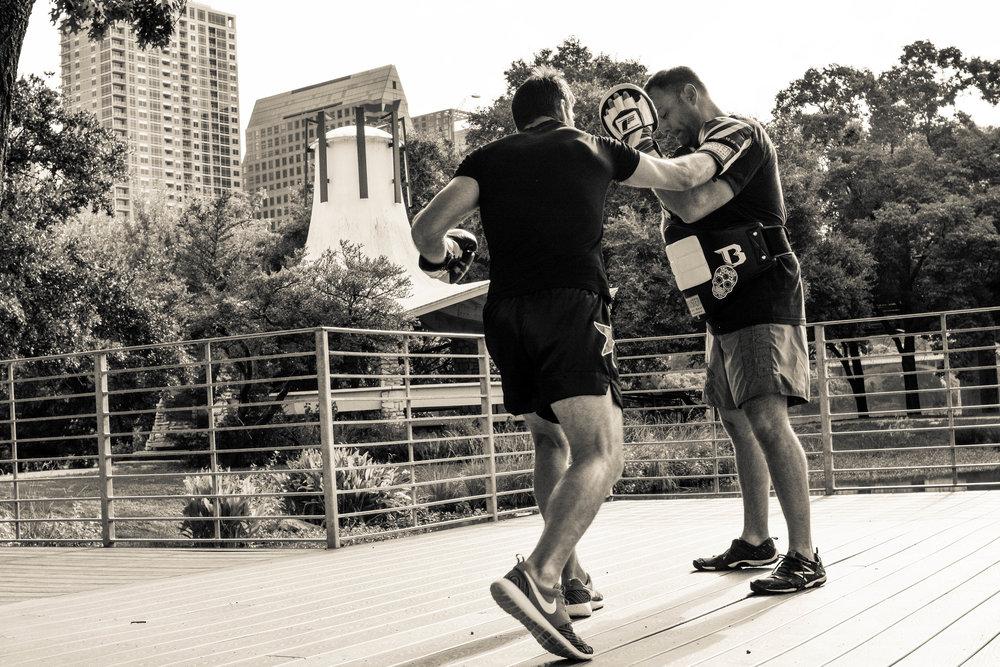 Boxers at Ladybird Lake