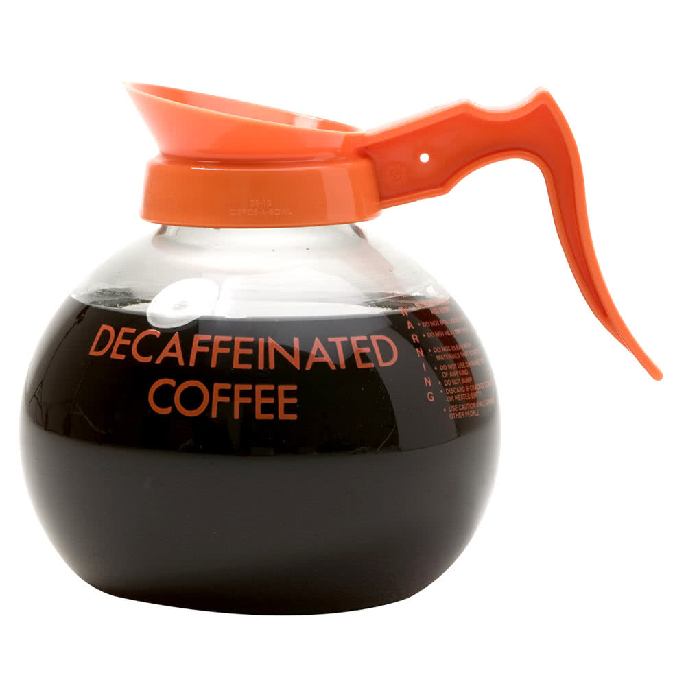 wilbur-curtis-70280200403-glass-decaf-coffee-decanter-with-orange-text-orange-imprint-and-decaf-only-logo-3-case.jpg