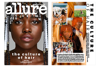 The Culture of Hair  ( Allure , ASME nominated issue)   The way we treat and style our hair can speak to where we come from as much as a language or an accent or a total lack of patience on a subway platform.
