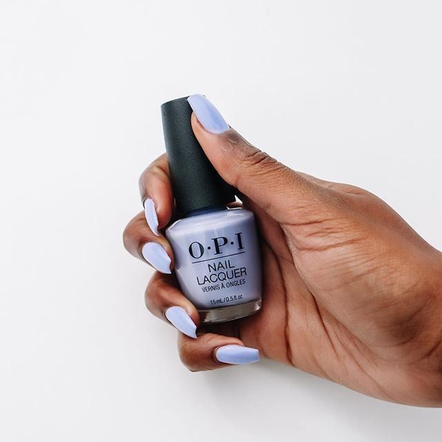 """Periwinkle Blue and Grey long-lasting nail polish team up to make your day."" - #OPI⠀ ⠀ Tune into our IG Story to check out the latest collection by @opi to hit our nail polish wall. #opitokyocollection ⠀"