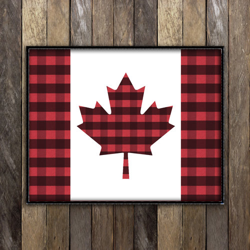 Canada Flag In Plaid Print Ramble On Supply Co
