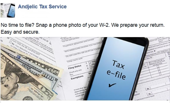 New Clients Andjelic Tax Service – Schedule a Worksheet
