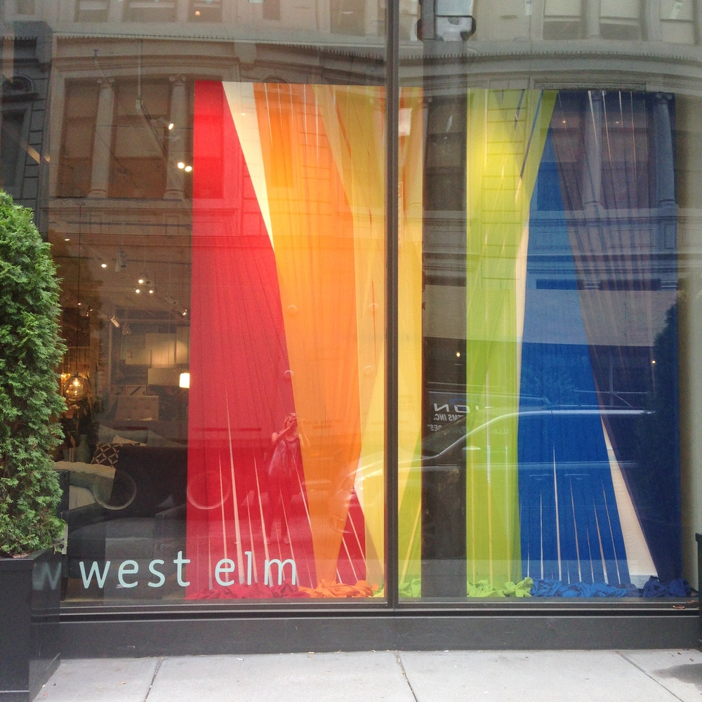 Pride Window // West Elm // Chelsea, NY // 2014