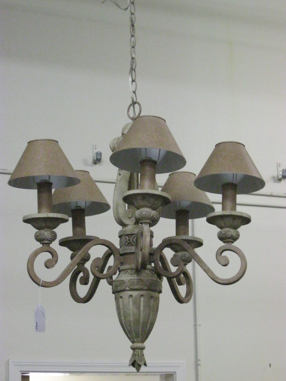 6-Lite Stone-like Chandelier