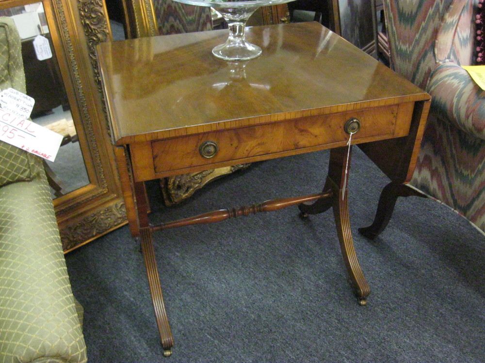English Drop-leaf side table