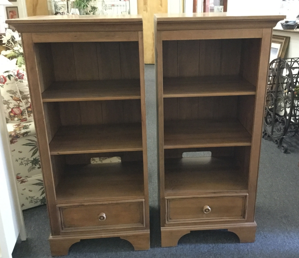 """Ethan Allen """"New Country"""" Shelving units"""