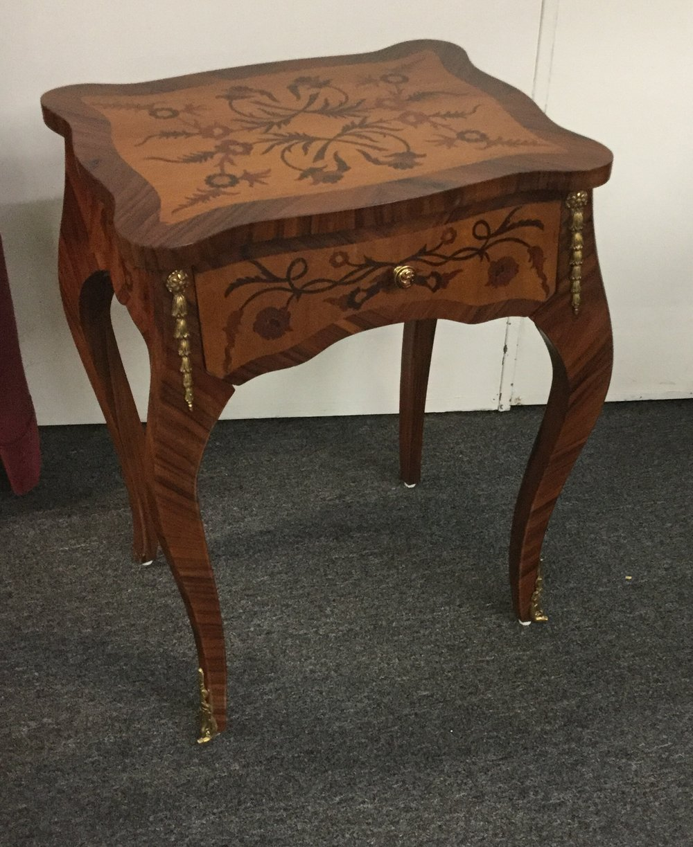 Satinwood marquetry inlay stand