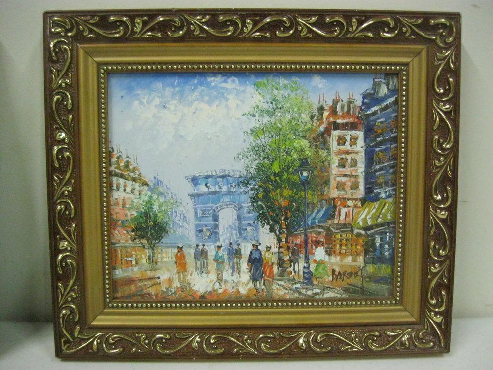 Framed French City Scene