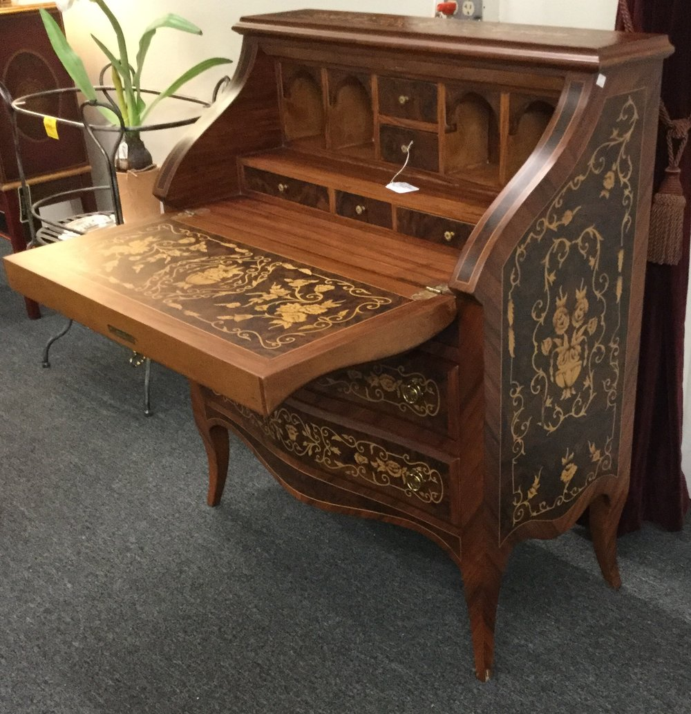 Drop-front secretary desk