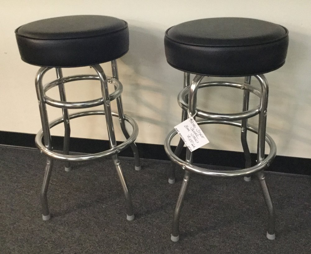Retro style swivel stools