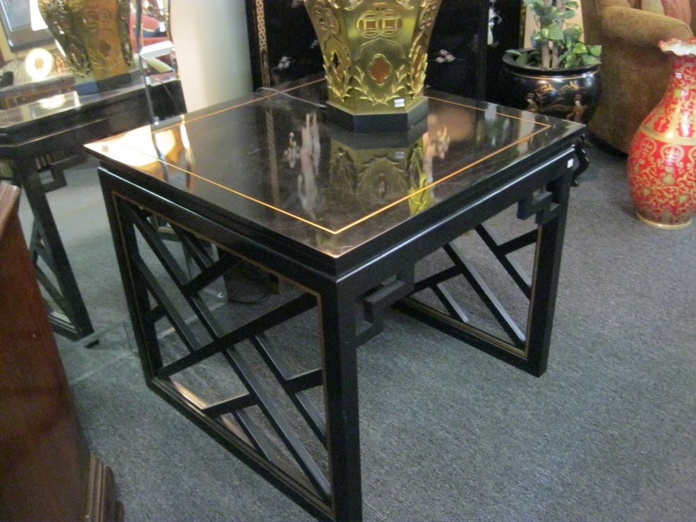 Kindel square lacquered occasional table