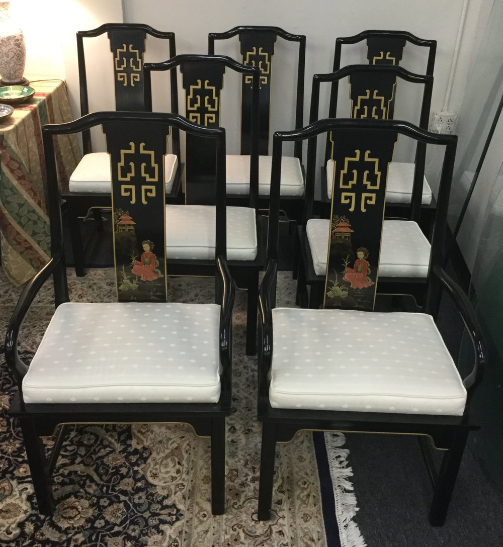 Set (5) Century dining chairs