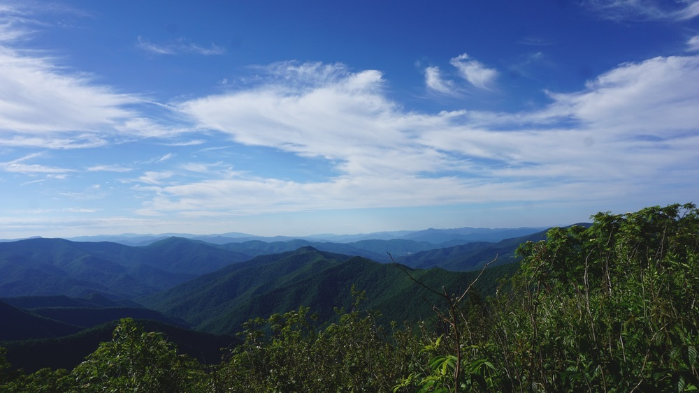 View from the top of Sam's Knob.