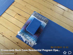 yoga mat at Crossroads Back Cover - Yoga with Jade Integrated Health