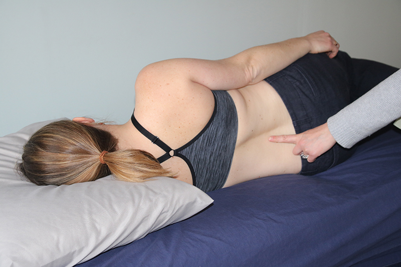 Curve in spine due to incorrect sleep position