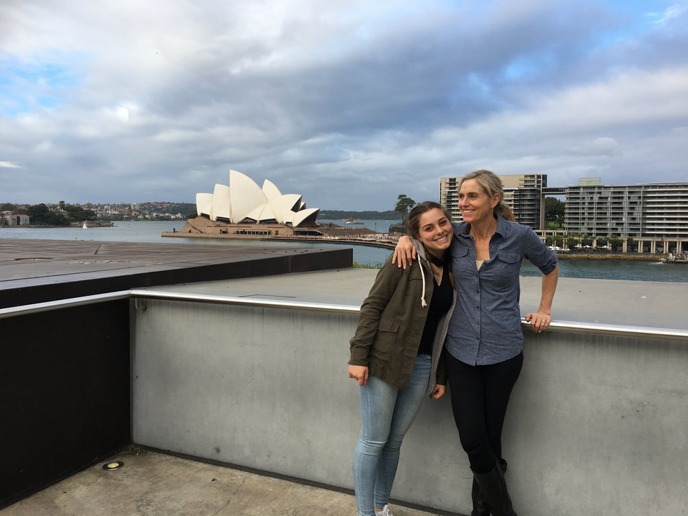 Delaney Ruston and her daughter Tessa in Australia