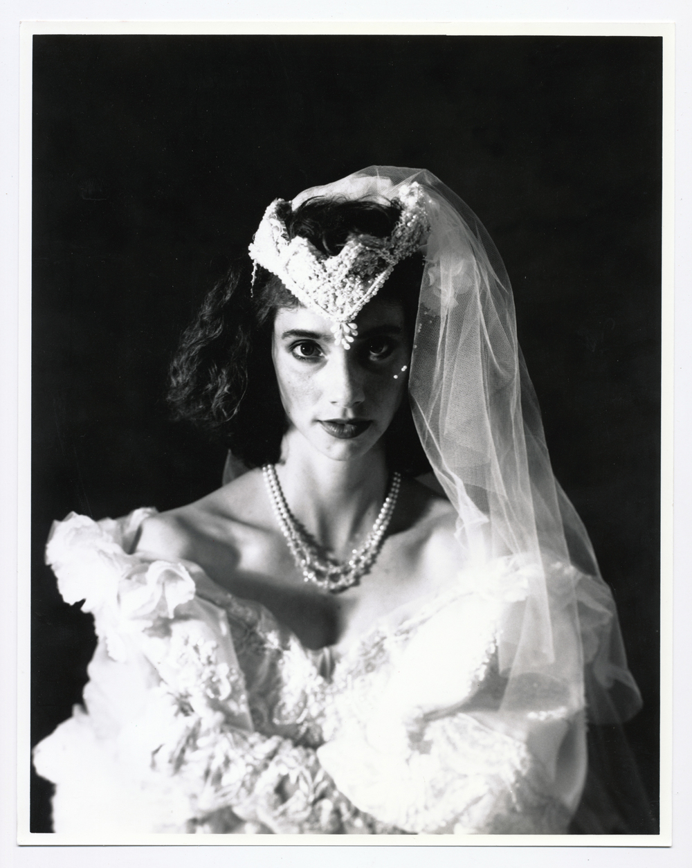 Teresa Wedding Series   4x5 silver print.  © Jud Burgess  1989