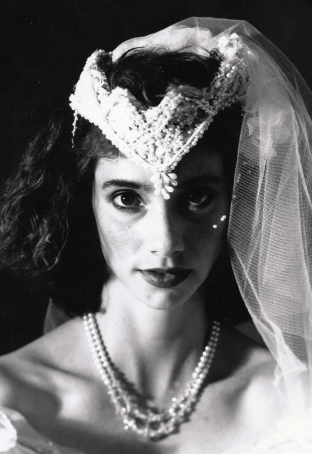 Teresa Wedding Series  (detail)   4x5 silver print.  © Jud Burgess  1989