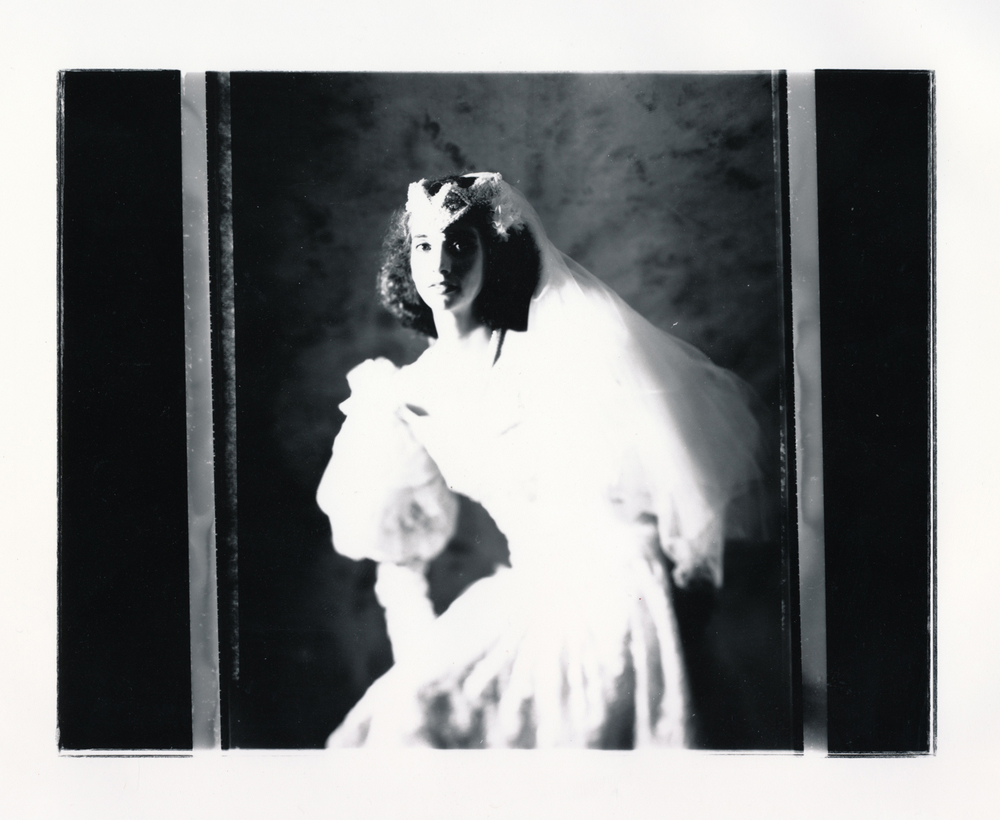 Teresa Wedding Series   Contact print off 4x5 negative.  © Jud Burgess  1989