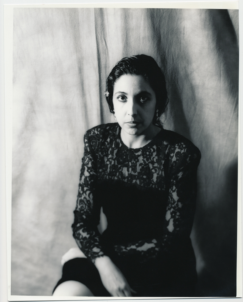 Laurie Somber   4x5 silver print.  © Jud Burgess  1990