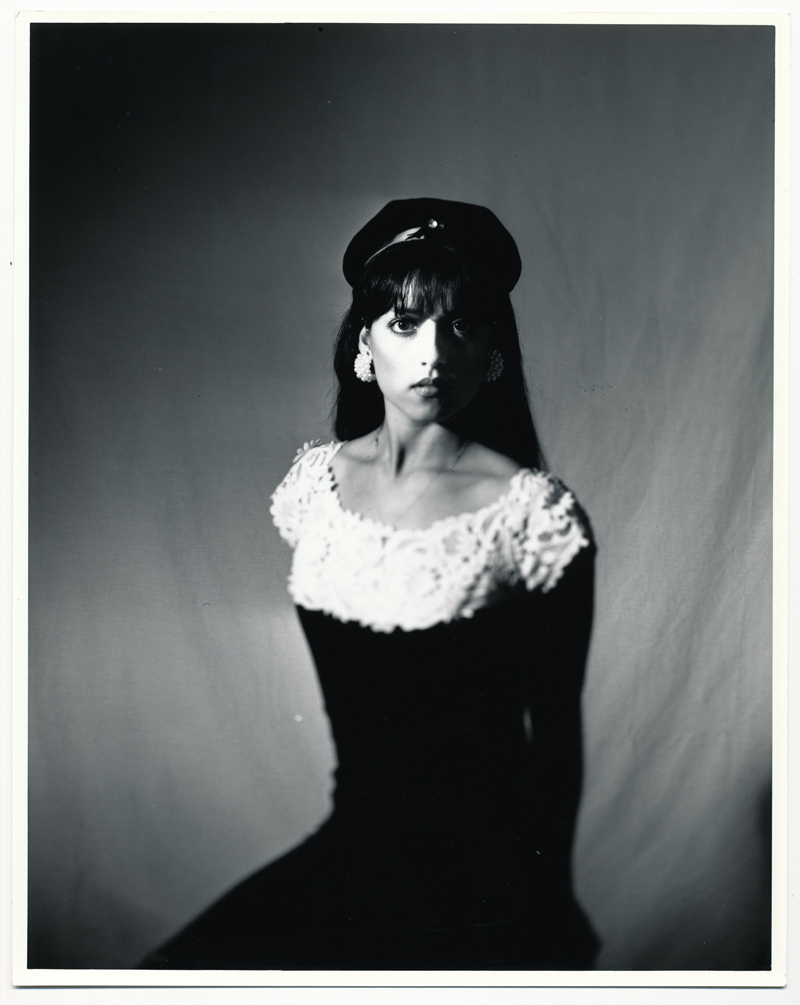 Angelica Seated   4x5 silver print.  © Jud Burgess  1990