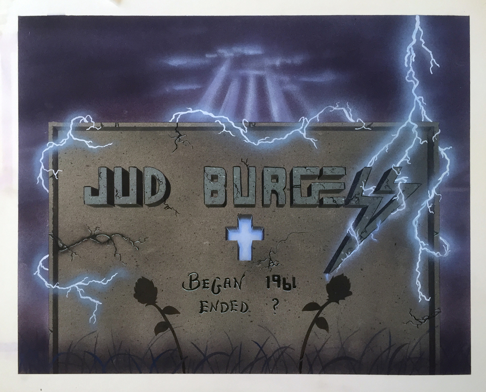 Began 1961    Ended ?   Airbrushed enamels on coldpress board.     © Jud Burgess  1980