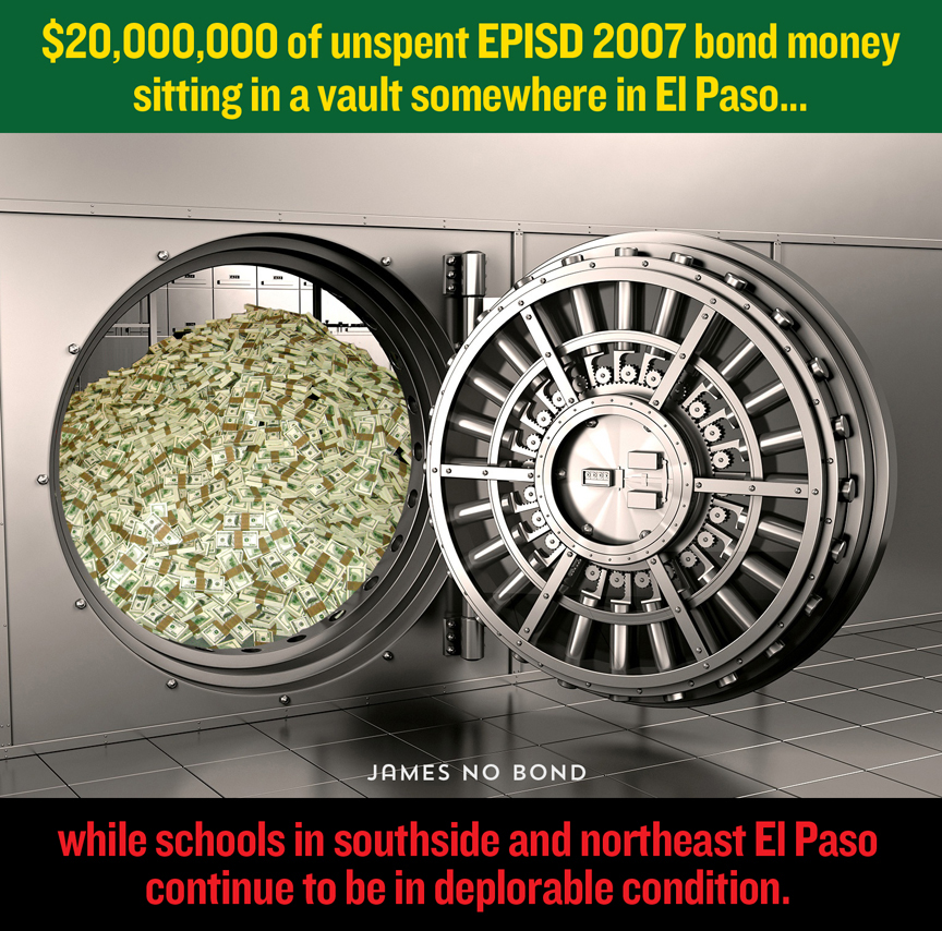 EPISD bond $20,000,000 unspent Jud Burgess