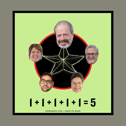 1 + 1 + 1 + 1 + 1 = 5  © Jud Burgess