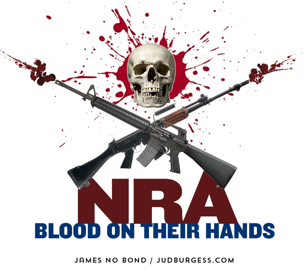 NRA blood on their hands © Jud Burgess