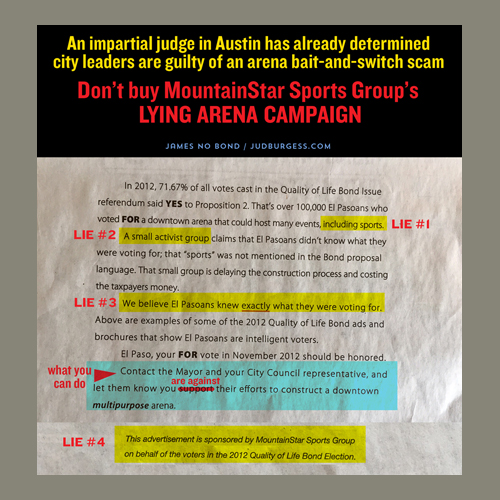 MountainStar Newspaper ad refute © Jud Burgess