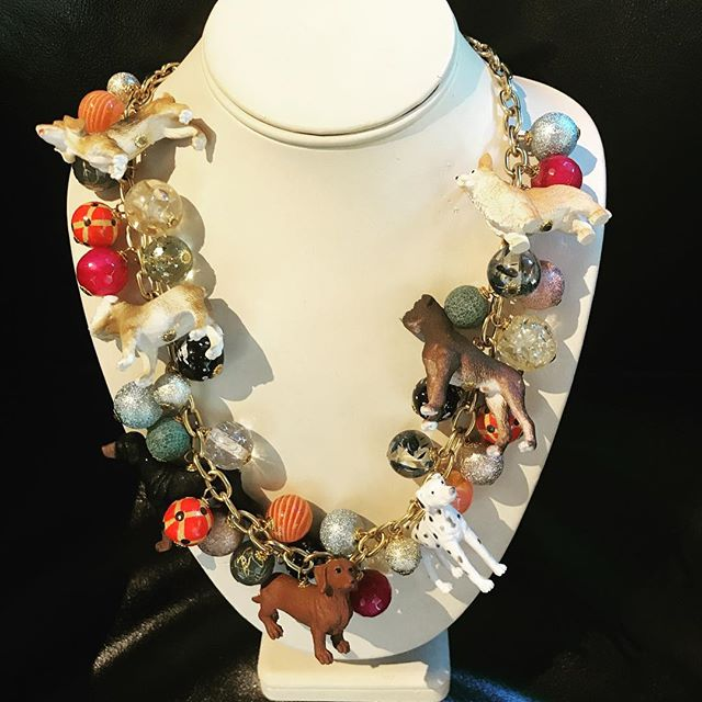 Dog lovers rejoice!  The greatest necklace ever! $162