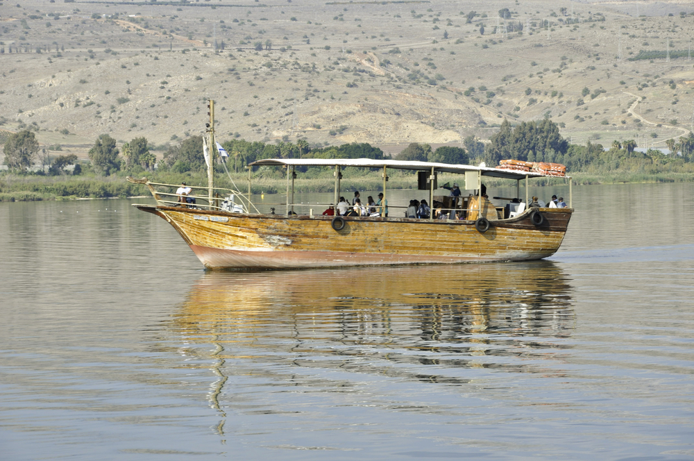 Replica Jesus Boat on Sea of Galilee