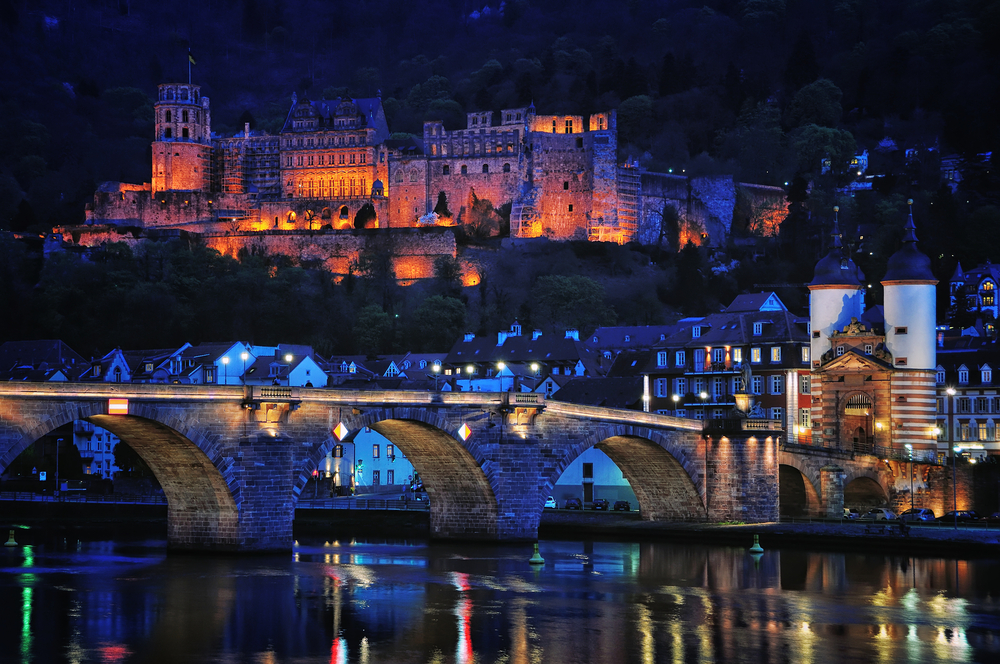 Night view of Heidelberg, Germany