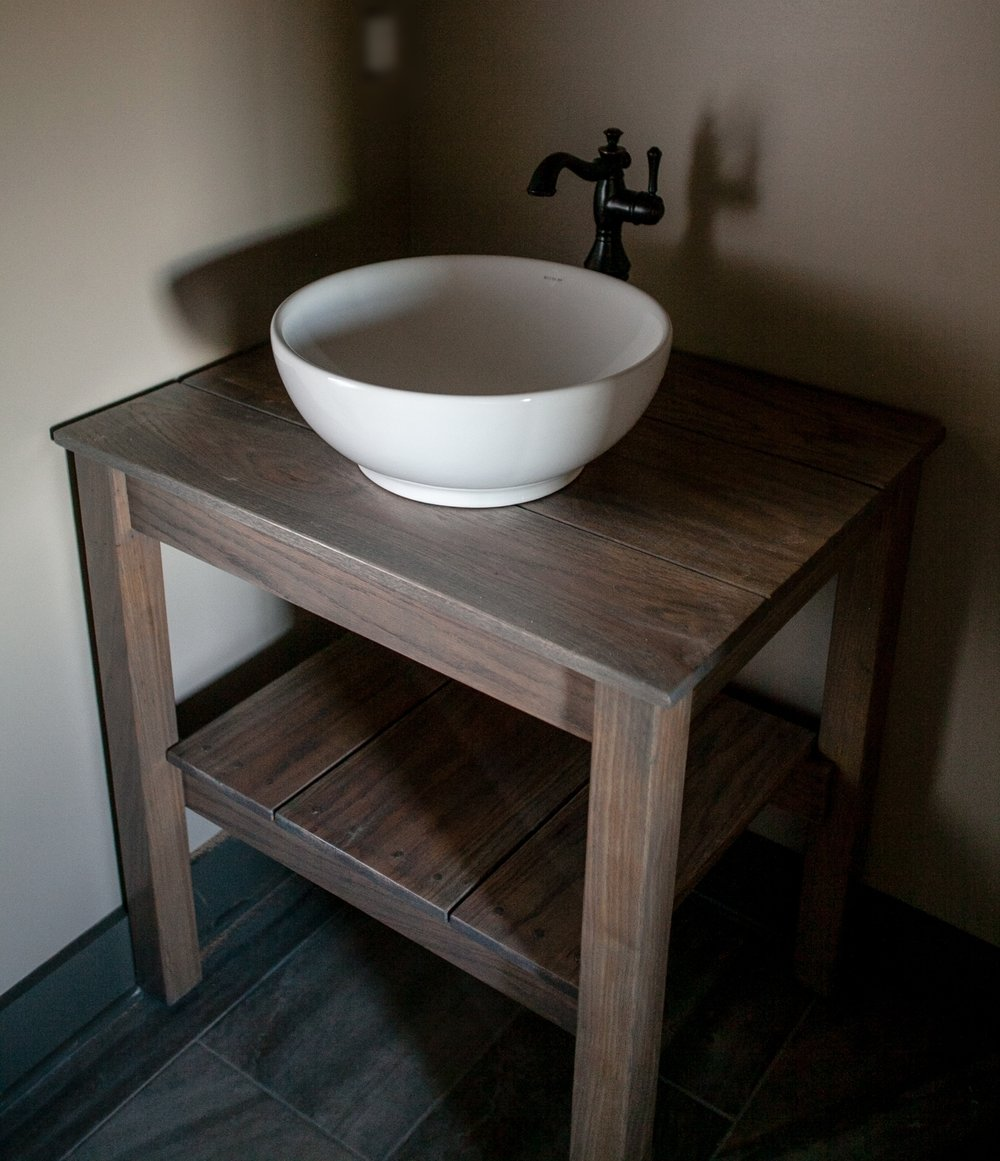Charmant Farm Table Vanity $750